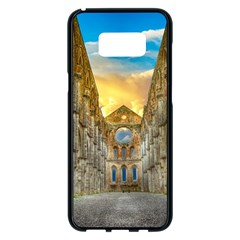 Abbey Ruin Architecture Medieval Samsung Galaxy S8 Plus Black Seamless Case