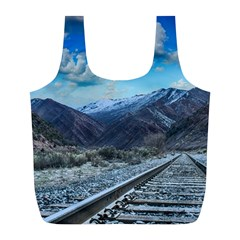 Nature Landscape Mountains Slope Full Print Recycle Bags (l)