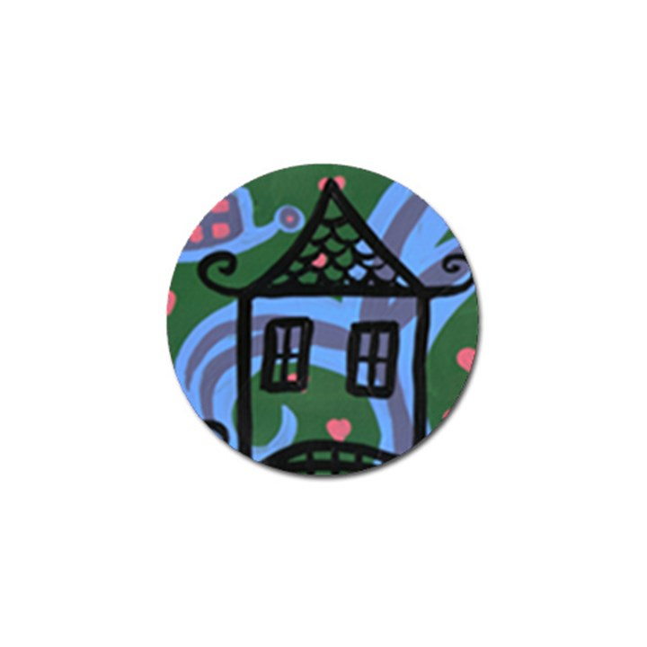 This Is The Smiling House Golf Ball Marker