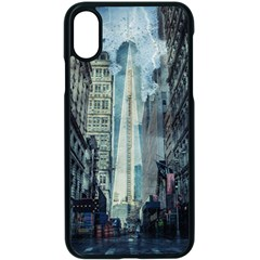 Storm Damage Disaster Weather Apple Iphone X Seamless Case (black)
