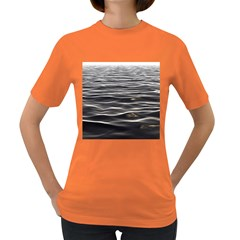 Texture Background Water Women s Dark T Shirt