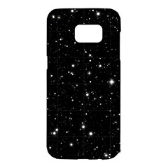 Black Background Texture Stars Samsung Galaxy S7 Edge Hardshell Case