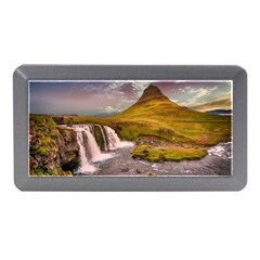 Nature Mountains Cliff Waterfall Memory Card Reader (mini)