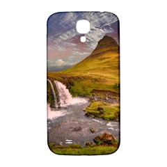 Nature Mountains Cliff Waterfall Samsung Galaxy S4 I9500/i9505  Hardshell Back Case
