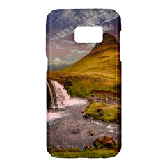 Nature Mountains Cliff Waterfall Samsung Galaxy S7 Hardshell Case
