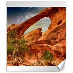 Canyon Desert Rock Scenic Nature Canvas 20  X 24
