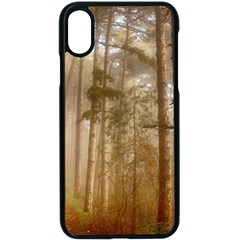 Forest Trees Wood Branc Apple Iphone X Seamless Case (black)