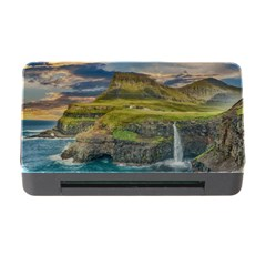 Coastline Waterfall Landscape Memory Card Reader With Cf