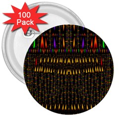 Hot As Candles And Fireworks In Warm Flames 3  Buttons (100 Pack)