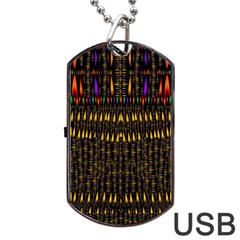 Hot As Candles And Fireworks In Warm Flames Dog Tag Usb Flash (one Side)