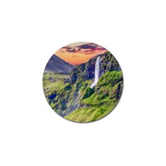 Waterfall Landscape Nature Scenic Golf Ball Marker (4 Pack)
