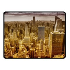 New York Empire State Building Double Sided Fleece Blanket (small)