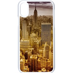 New York Empire State Building Apple Iphone X Seamless Case (white)