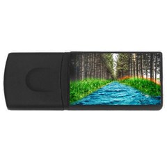 River Forest Landscape Nature Rectangular Usb Flash Drive