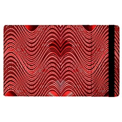 Red Wave Pattern Apple Ipad Pro 9 7   Flip Case