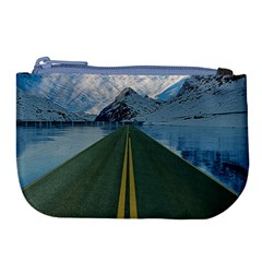 Road Ice Landscape Large Coin Purse