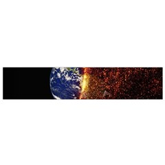 Climate Change Global Warming Small Flano Scarf