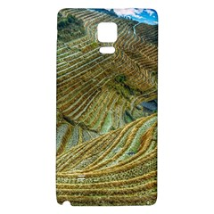 Rice Field China Asia Rice Rural Galaxy Note 4 Back Case