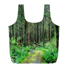 Forest Woods Nature Landscape Tree Full Print Recycle Bags (l)