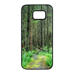 Forest Woods Nature Landscape Tree Samsung Galaxy S7 Edge Black Seamless Case