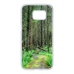 Forest Woods Nature Landscape Tree Samsung Galaxy S7 Edge White Seamless Case