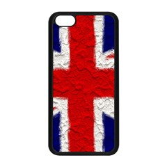 Union Jack Flag National Country Apple Iphone 5c Seamless Case (black)