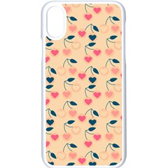 Heart Cherries Cream Apple Iphone X Seamless Case (white)