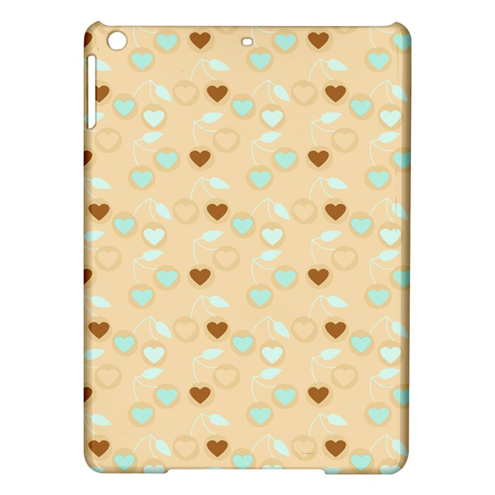 Beige Heart Cherries iPad Air Hardshell Cases
