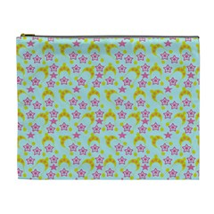 Blue Star Yellow Hats Cosmetic Bag (xl)