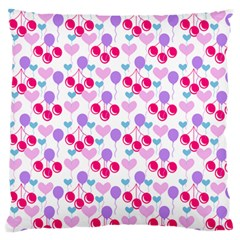 Pastel Cherries Standard Flano Cushion Case (one Side)
