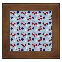Sky Cherry Framed Tiles