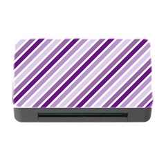 Violet Stripes Memory Card Reader With Cf