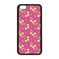 Yellow Pink Cherries Apple Iphone 5c Seamless Case (black)