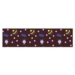 Cakes And Sundaes Chocolate Satin Scarf (oblong)