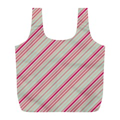 Candy Diagonal Lines Full Print Recycle Bags (l)