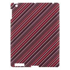 Brownish Diagonal Lines Apple Ipad 3/4 Hardshell Case