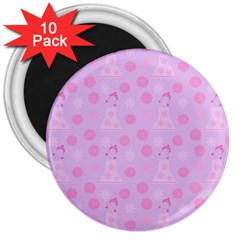 Lilac Dress 3  Magnets (10 Pack)