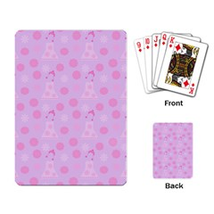 Lilac Dress Playing Card