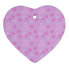 Lilac Dress Heart Ornament (two Sides)