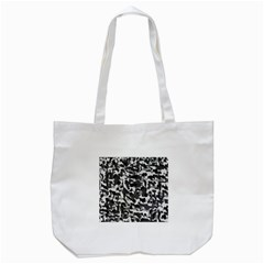 Grey Camo Tote Bag (white)
