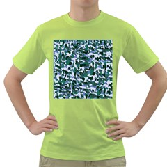 Blue Camo Green T Shirt