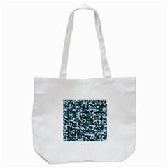Blue Camo Tote Bag (white)