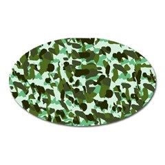 Green Camo Oval Magnet