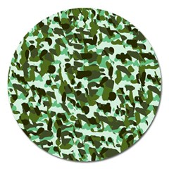Green Camo Magnet 5  (round)