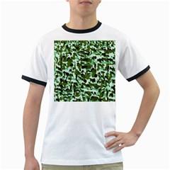 Green Camo Ringer T Shirts