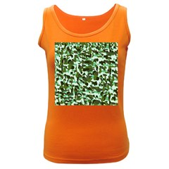 Green Camo Women s Dark Tank Top