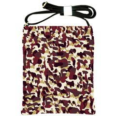 Red Camo Shoulder Sling Bags