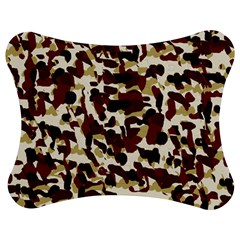 Red Camo Jigsaw Puzzle Photo Stand (bow)