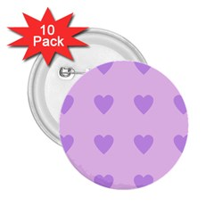 Violet Heart 2 25  Buttons (10 Pack)