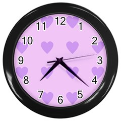 Violet Heart Wall Clocks (black)